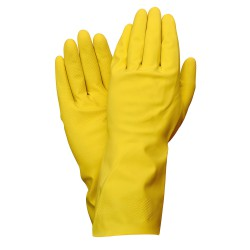 Guantes Latex 100% Basic Domesticos   S (Par)
