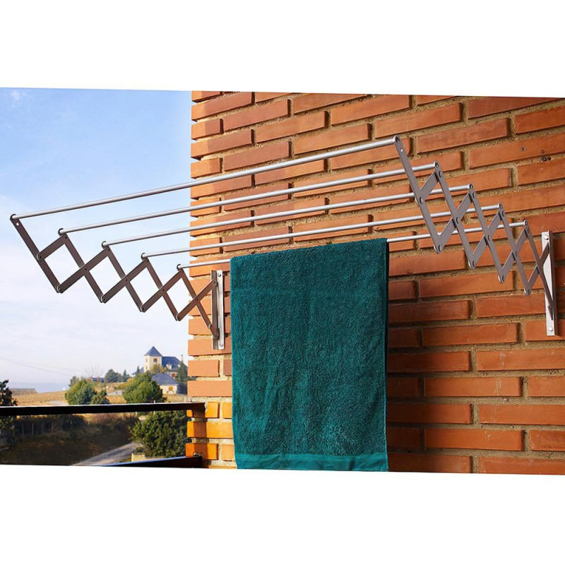 Tendedero extensible pared aluminio 1 20 metros - Tendedero de pared extensible ...