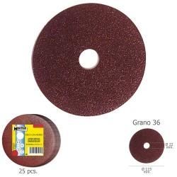Disco Lija Hierro 115x22 mm. Grano  36 (Paquete de 25 unidades)