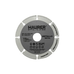 Disco Corte Metales Universal  Ø 115 x 1,2 mm.
