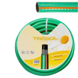 """Manguera Verde Trebol Trenzado 15 mm. - 5/8"""" Rollo 50 Metros"""