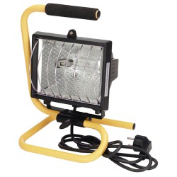 Foco Halogeno 500 W. con lampara 400 W. Ahorro y asa