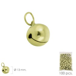 Cascabel Dorado  13 mm. (Bolsa 100 Unidades)